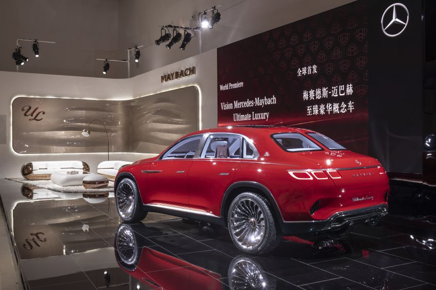 Vision Mercedes-Maybach Ultimate Luxury officially debuts in Beijing – four electric motors, 748 PS output Image #810625