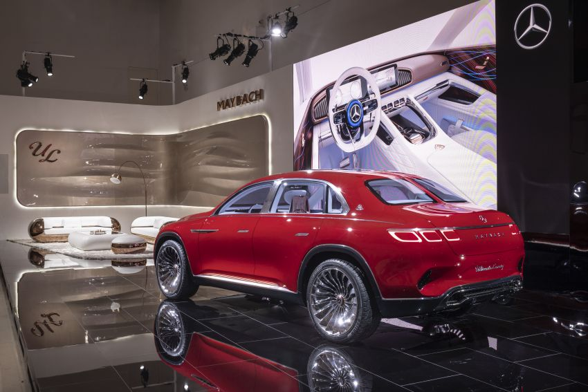 Vision Mercedes-Maybach Ultimate Luxury officially debuts in Beijing – four electric motors, 748 PS output Image #810626