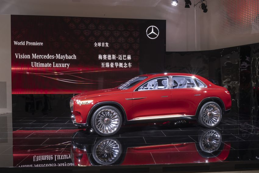 Vision Mercedes-Maybach Ultimate Luxury officially debuts in Beijing – four electric motors, 748 PS output Image #810627