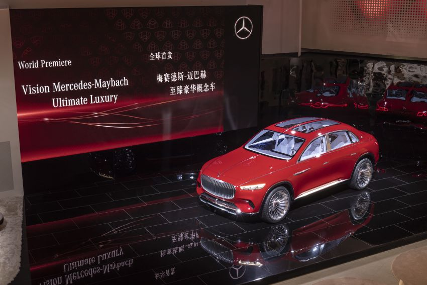 Vision Mercedes-Maybach Ultimate Luxury officially debuts in Beijing – four electric motors, 748 PS output Image #810632