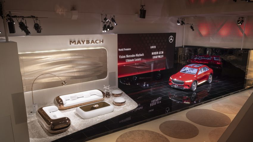 Vision Mercedes-Maybach Ultimate Luxury officially debuts in Beijing – four electric motors, 748 PS output Image #810636