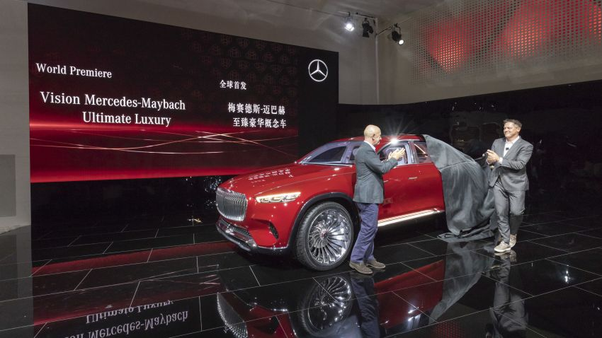Vision Mercedes-Maybach Ultimate Luxury officially debuts in Beijing – four electric motors, 748 PS output Image #810613