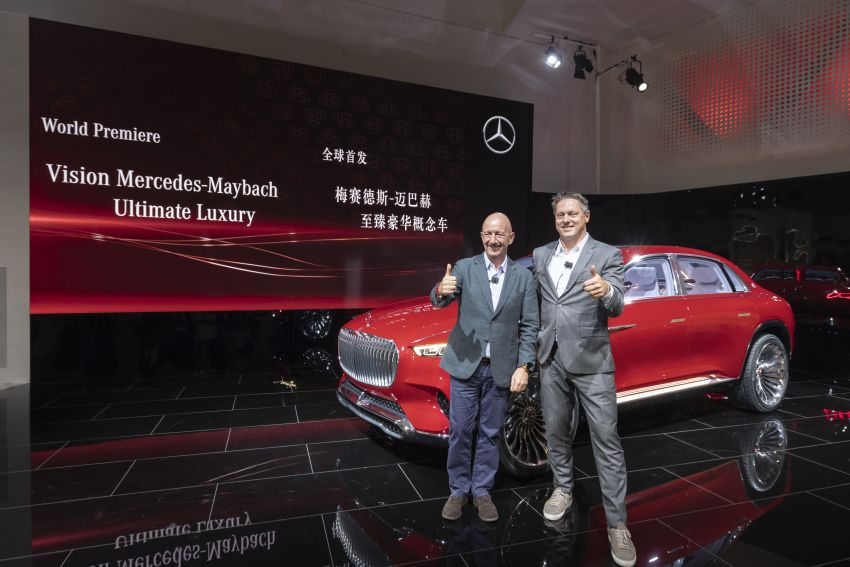 Vision Mercedes-Maybach Ultimate Luxury officially debuts in Beijing – four electric motors, 748 PS output Image #810615