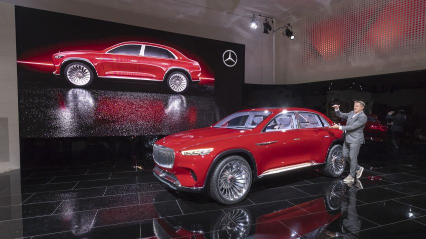 Vision Mercedes-Maybach Ultimate Luxury officially debuts in Beijing – four electric motors, 748 PS output Image #810617