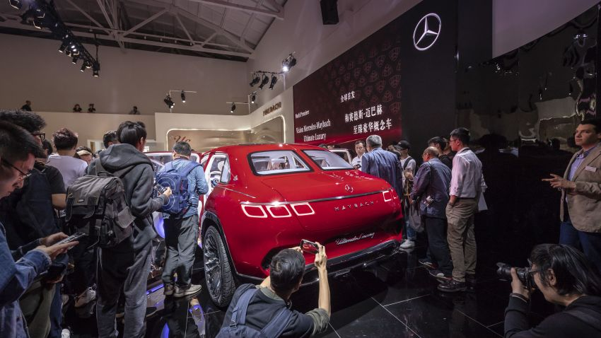Vision Mercedes-Maybach Ultimate Luxury officially debuts in Beijing – four electric motors, 748 PS output Image #810618