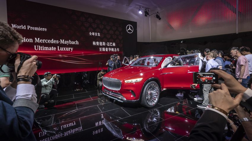 Vision Mercedes-Maybach Ultimate Luxury officially debuts in Beijing – four electric motors, 748 PS output Image #810619