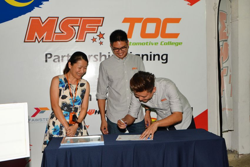 MSF and TOC launch collaboration to grow Malaysian motorsports industry with skilled technicians Image #821442
