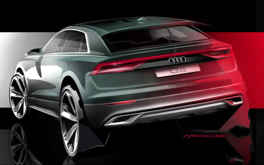 Audi Q8 teased in sketch form ahead of June debut Image #817714
