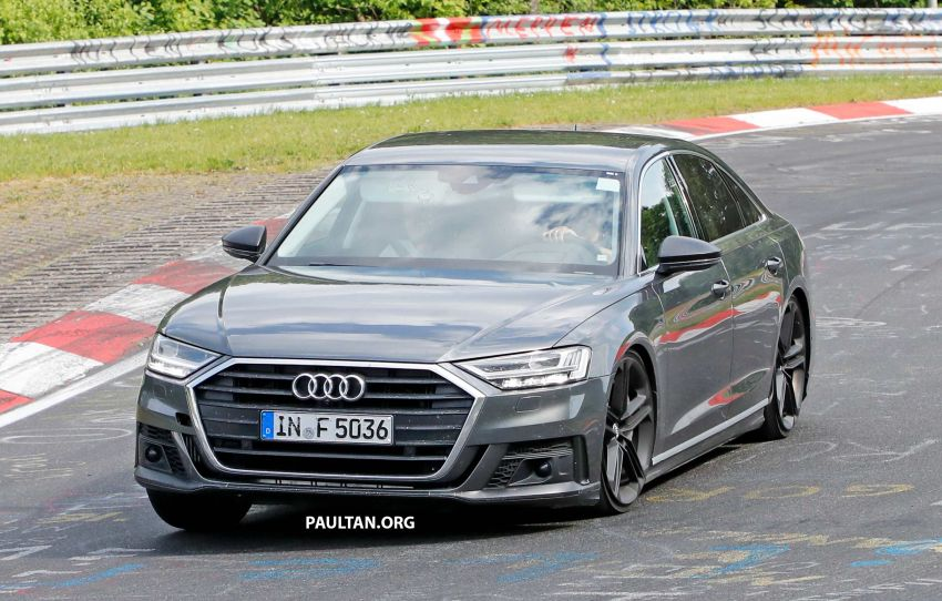 SPYSHOTS: 2019 Audi S8 spotted at the Nurburgring Image #820571
