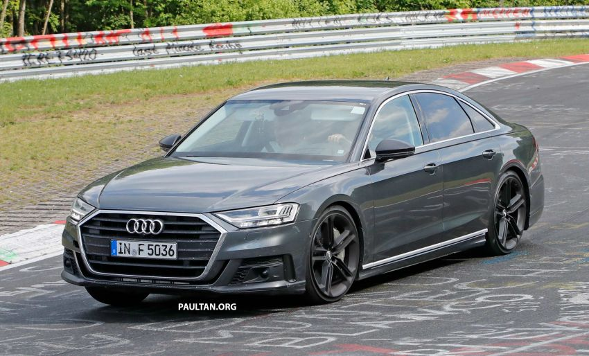 spyshots 2019 audi s8 spotted at the nurburgring. Black Bedroom Furniture Sets. Home Design Ideas