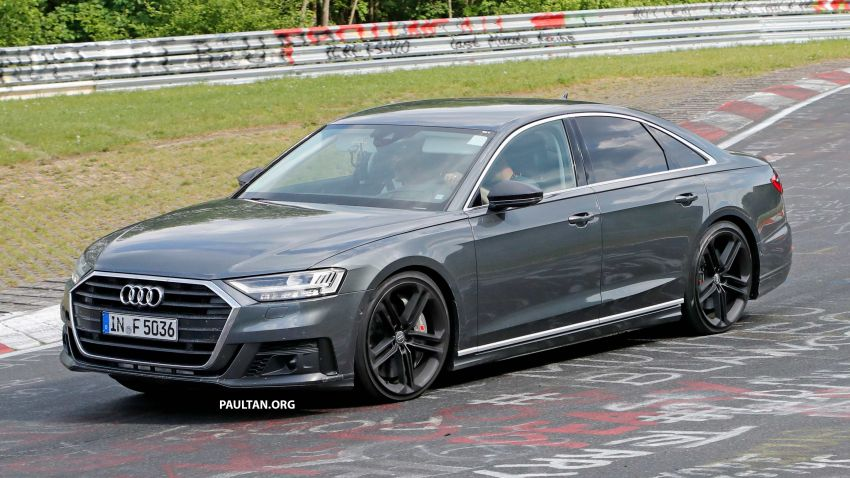 SPYSHOTS: 2019 Audi S8 spotted at the Nurburgring Image #820573