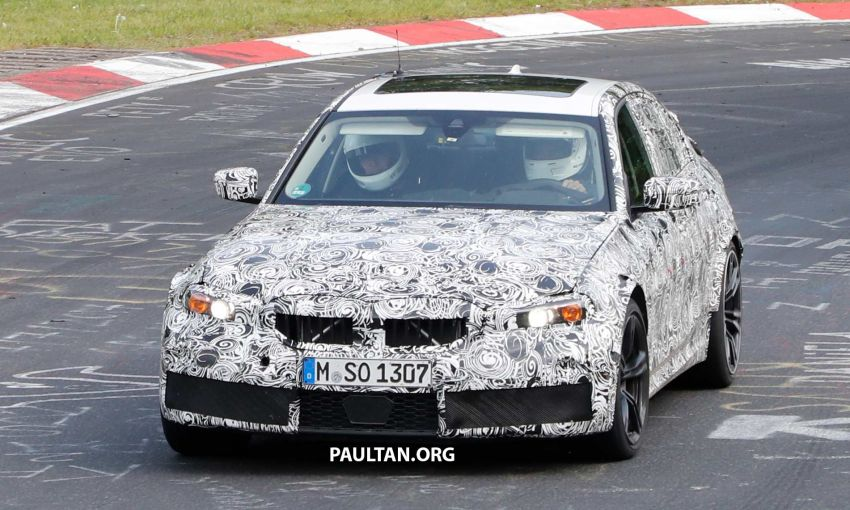 SPYSHOTS: G80 BMW M3 spotted testing at the 'Ring Image #818529