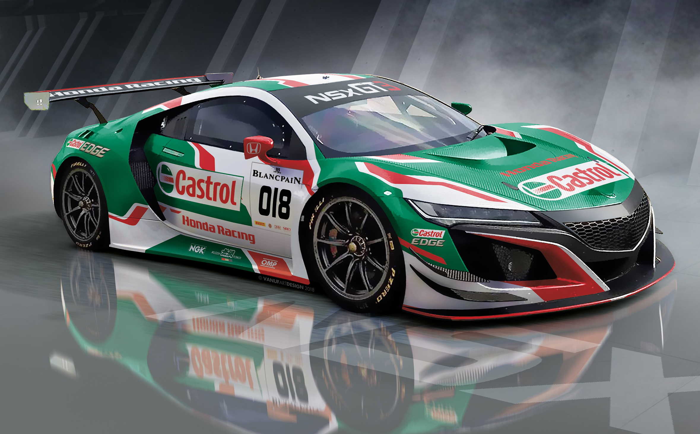 Castrol Honda Racing NSX GT3 heads to 24 Hours Spa Paul Tan Image