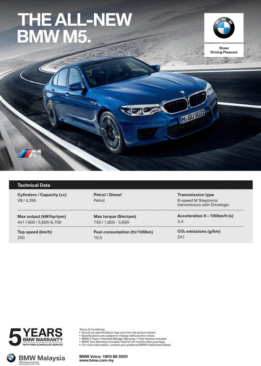 F90 BMW M5 launched in Malaysia, from RM943k Image #818283