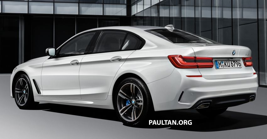 2019 G20 BMW 3 Series rendered – conjoined kidney grille, notched headlamps, L-shaped tail lamps Image #815542