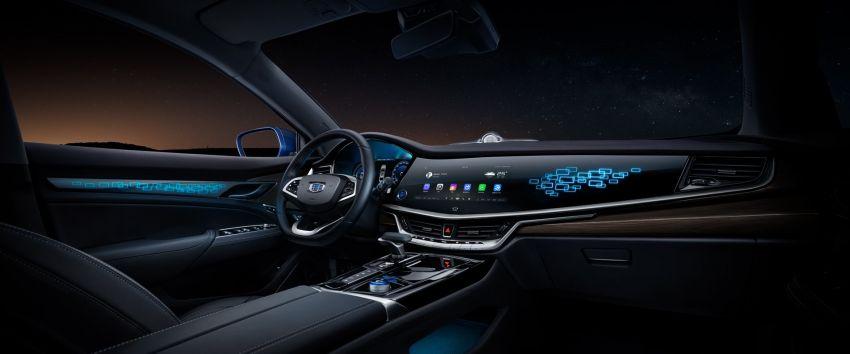 Geely Borui GE – MHEV, PHEV powertrains, display key, AEB, dual-screen dash; next Proton Perdana? Image #822184