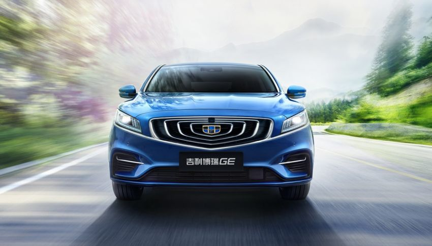 Geely Borui GE – MHEV, PHEV powertrains, display key, AEB, dual-screen dash; next Proton Perdana? Image #822175