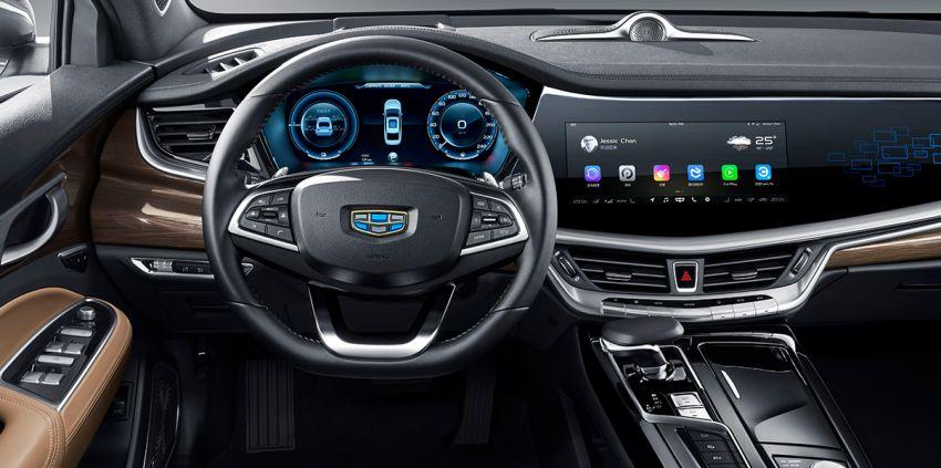 Geely Borui GE – MHEV, PHEV powertrains, display key, AEB, dual-screen dash; next Proton Perdana? Image #822200