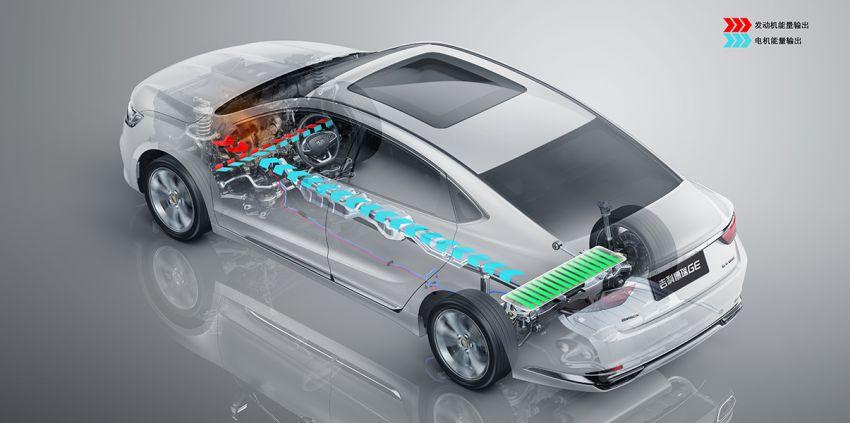 Geely Borui GE – MHEV, PHEV powertrains, display key, AEB, dual-screen dash; next Proton Perdana? Image #822221