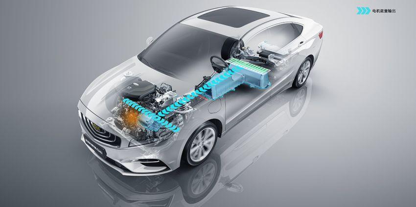 Geely Borui GE – MHEV, PHEV powertrains, display key, AEB, dual-screen dash; next Proton Perdana? Image #822226