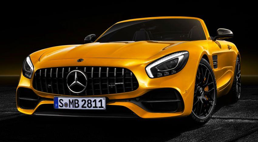 Mercedes-AMG GT S Roadster – GT bumbung boleh buka ketiga, kuasa 515 hp, tork 670 Nm dari enjin V8 Image #817353