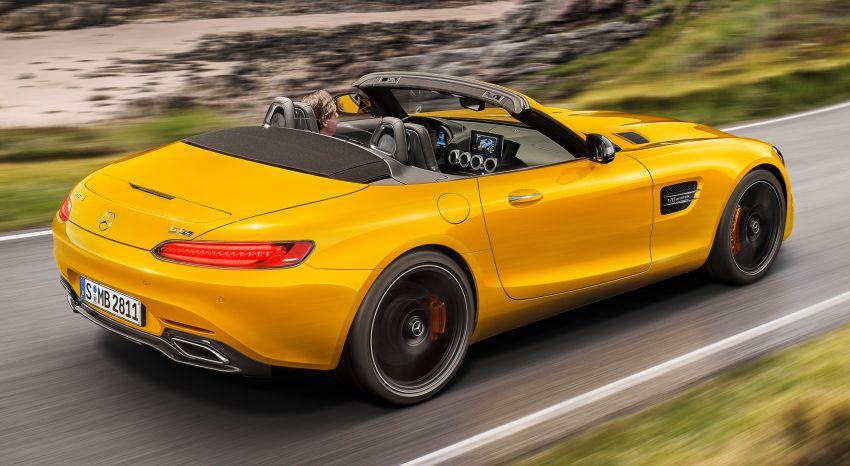 Mercedes-AMG GT S Roadster – GT bumbung boleh buka ketiga, kuasa 515 hp, tork 670 Nm dari enjin V8 Image #817344