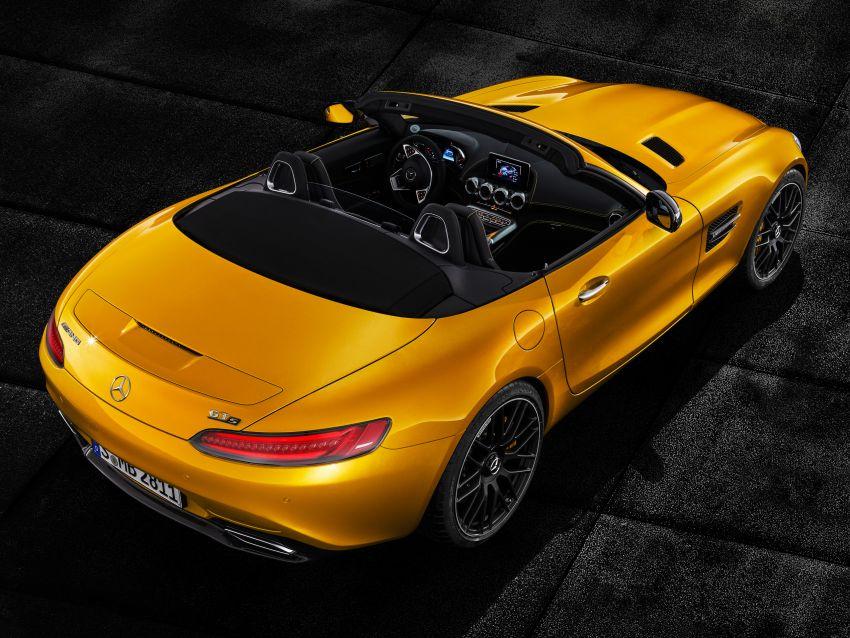Mercedes-AMG GT S Roadster – GT bumbung boleh buka ketiga, kuasa 515 hp, tork 670 Nm dari enjin V8 Image #817346