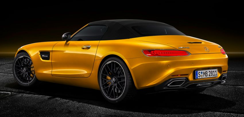 Mercedes-AMG GT S Roadster – GT bumbung boleh buka ketiga, kuasa 515 hp, tork 670 Nm dari enjin V8 Image #817348