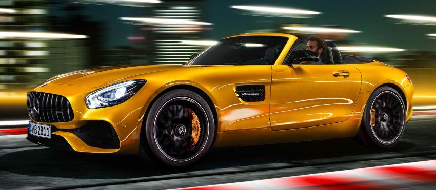 Mercedes-AMG GT S Roadster – GT bumbung boleh buka ketiga, kuasa 515 hp, tork 670 Nm dari enjin V8 Image #817350