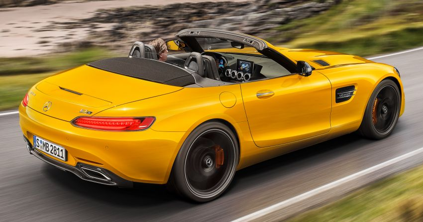 Mercedes-AMG GT S Roadster – GT bumbung boleh buka ketiga, kuasa 515 hp, tork 670 Nm dari enjin V8 Image #817354