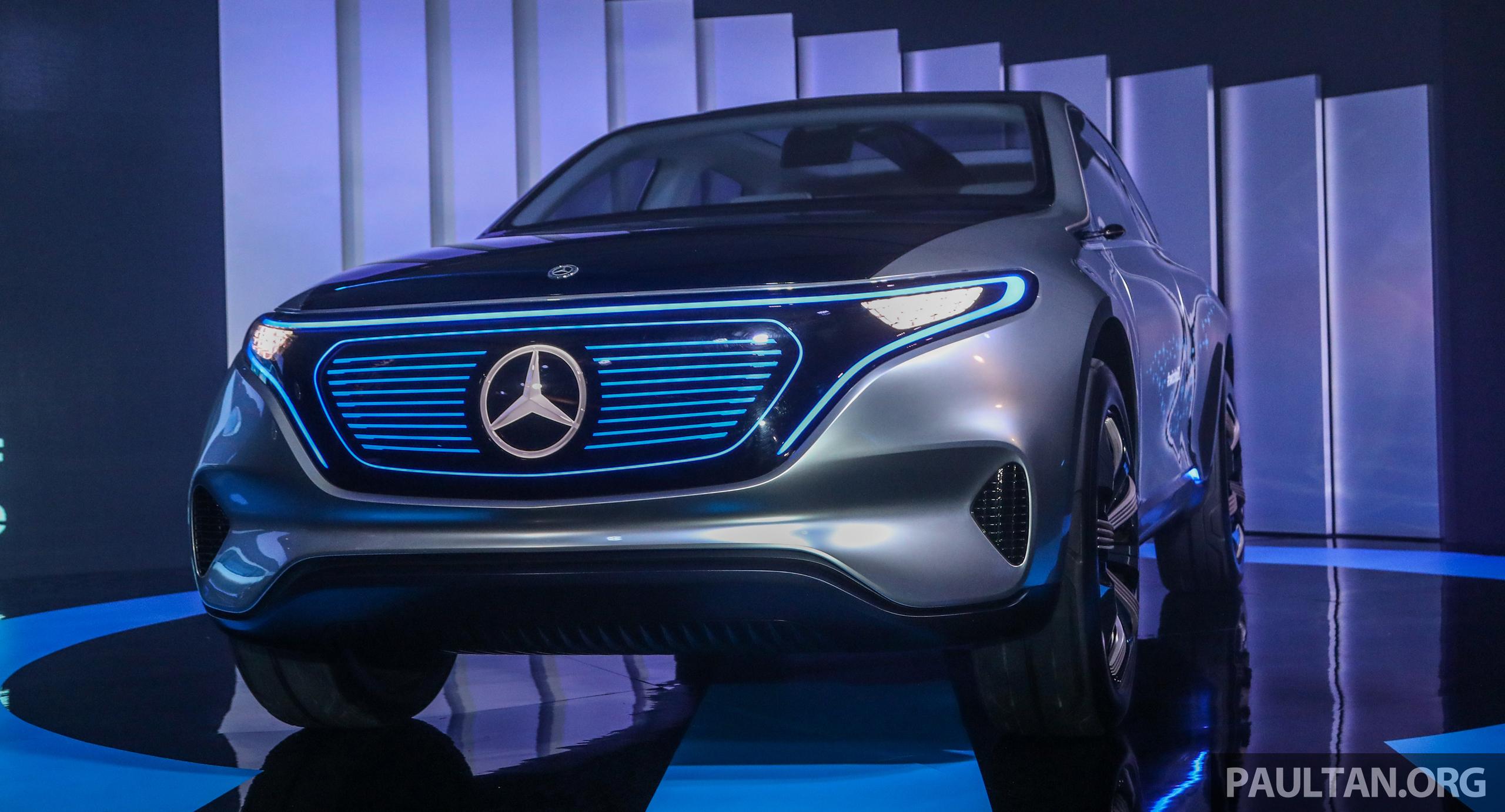 Mercedes benz concept eq all electric study fronts the for All electric mercedes benz