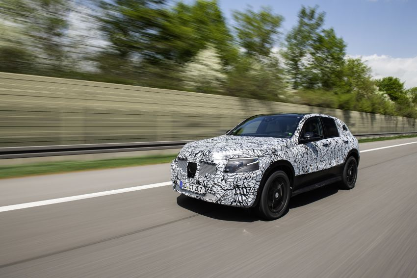 Mercedes-Benz EQC teased again ahead of 2019 reveal Image #817689