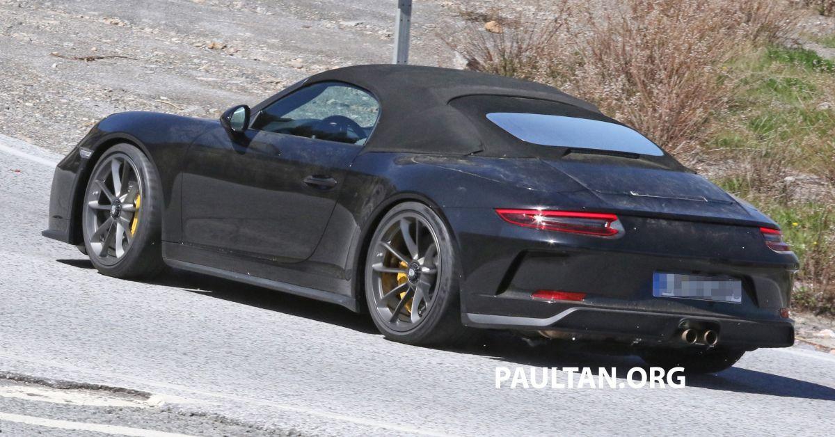 Spyshots Porsche 911 Speedster Spotted In The Wild