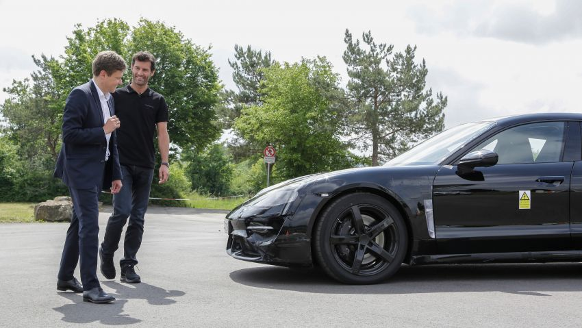 VIDEO: Porsche Mission E test driven by Mark Webber Image #819181