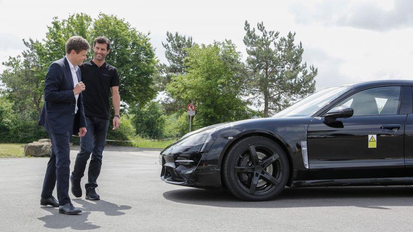 VIDEO: Porsche Mission E test driven by Mark Webber Image #819181