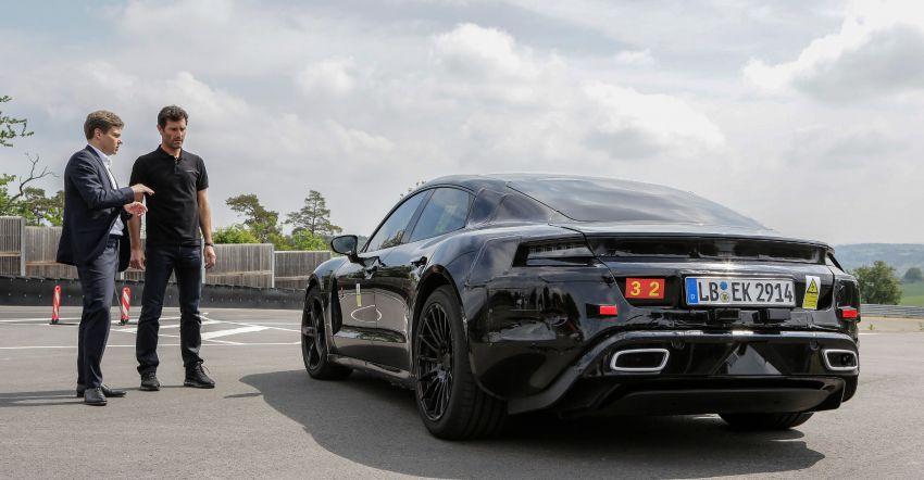 VIDEO: Porsche Mission E test driven by Mark Webber Image #819176