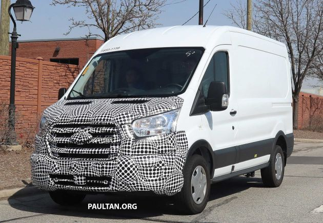 One Of The Favourites White Van Man Ford Transit Is Due To Receive A Facelift As Shown By This Set Spy Images Changes Exterior Are