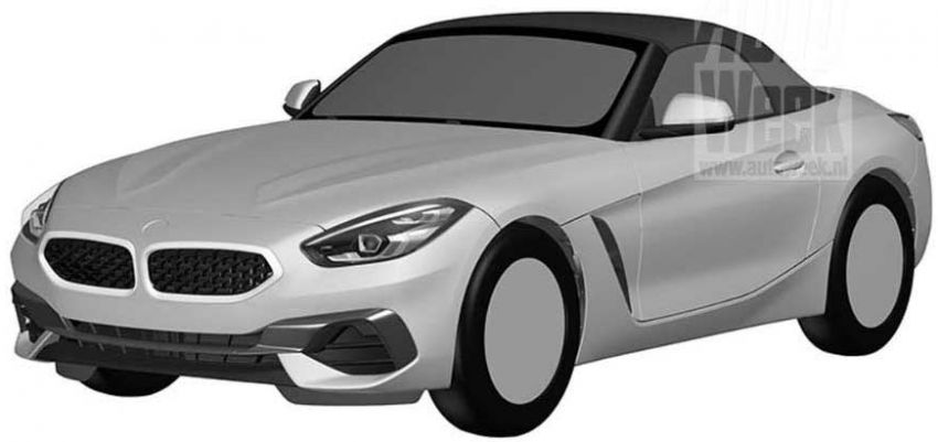 2019 BMW Z4 shown in patent ahead of Pebble Beach Image #826228