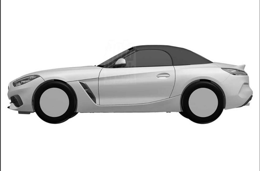2019 BMW Z4 shown in patent ahead of Pebble Beach Image #826229