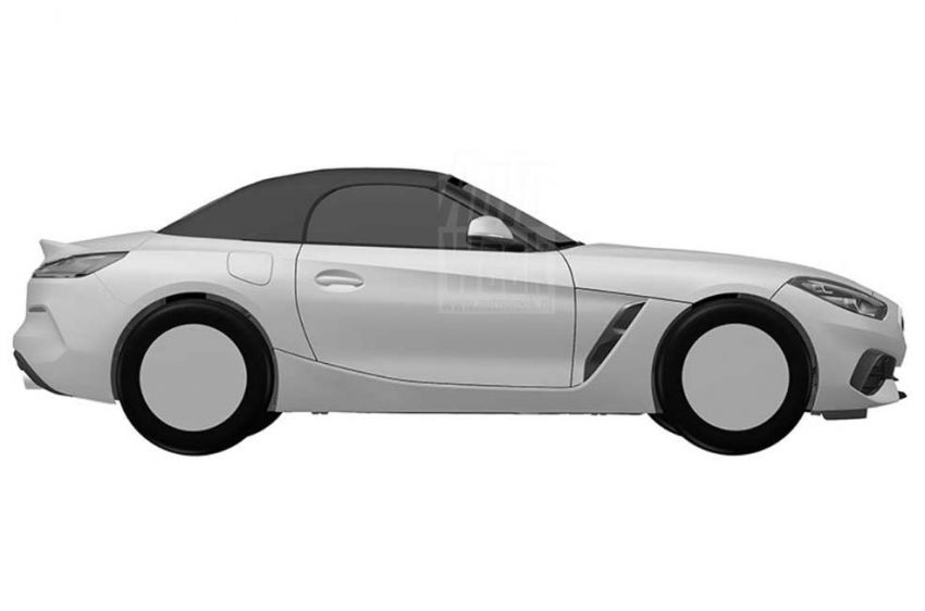 2019 BMW Z4 shown in patent ahead of Pebble Beach Image #826233
