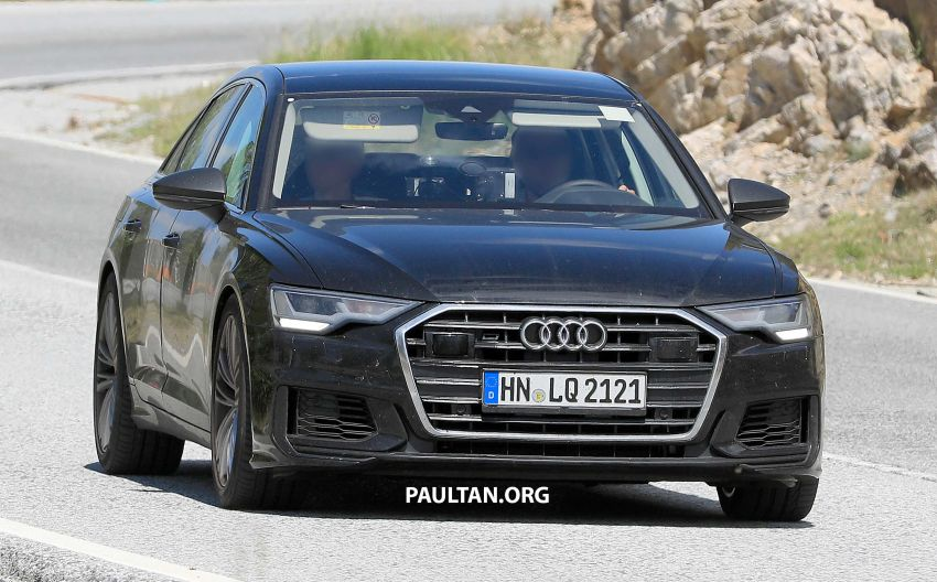 SPYSHOTS: 2019 Audi S6 sedan seen undisguised Image #826292