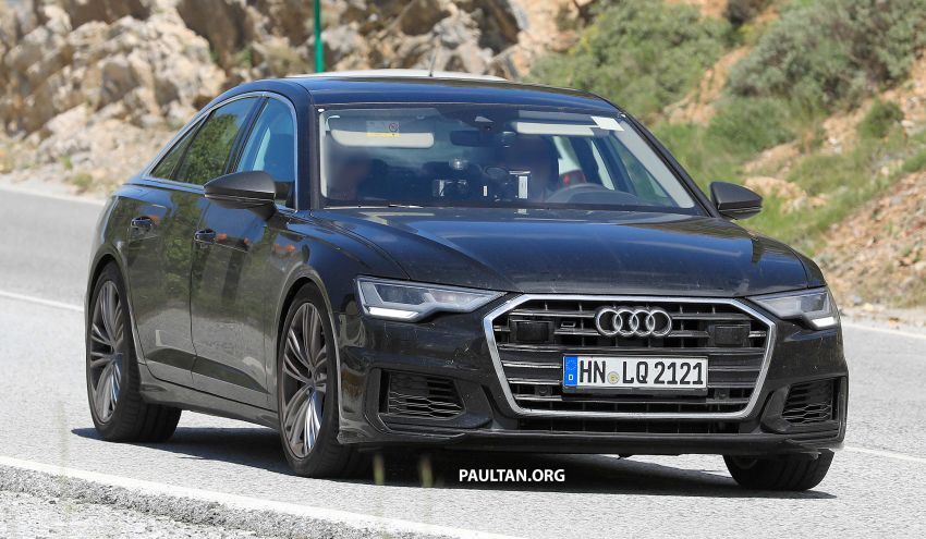SPYSHOTS: 2019 Audi S6 sedan seen undisguised Image #826293