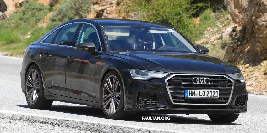 SPYSHOTS: 2019 Audi S6 sedan seen undisguised Image #826294