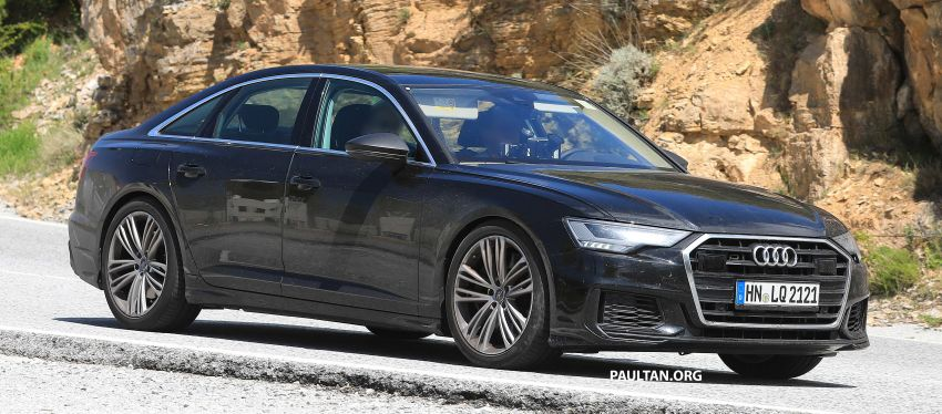 SPYSHOTS: 2019 Audi S6 sedan seen undisguised Image #826295