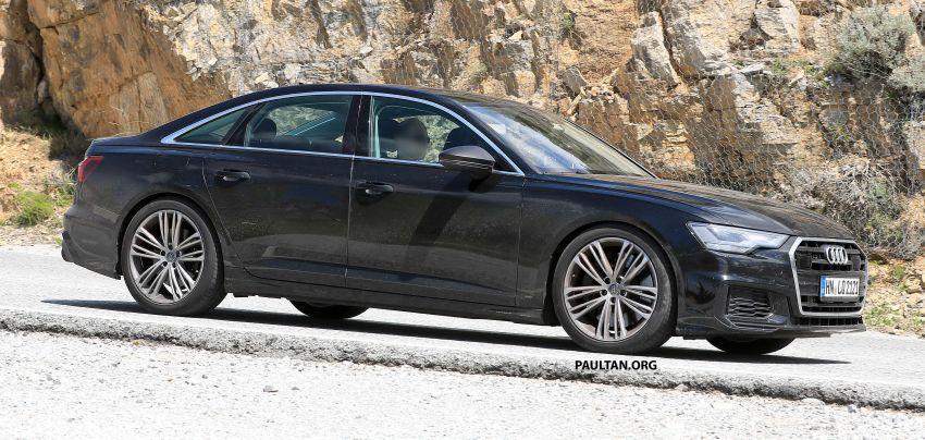 SPYSHOTS: 2019 Audi S6 sedan seen undisguised Image #826296