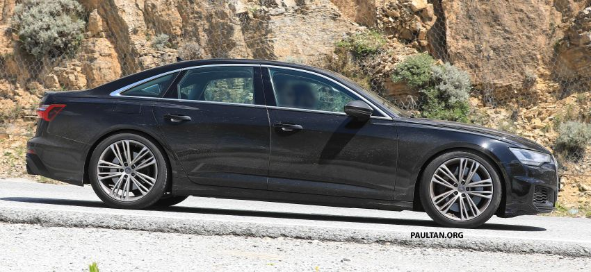SPYSHOTS: 2019 Audi S6 sedan seen undisguised Image #826297