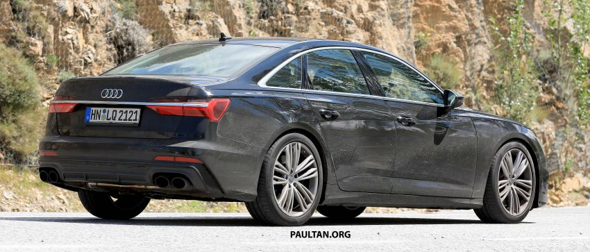 SPYSHOTS: 2019 Audi S6 sedan seen undisguised Image #826299