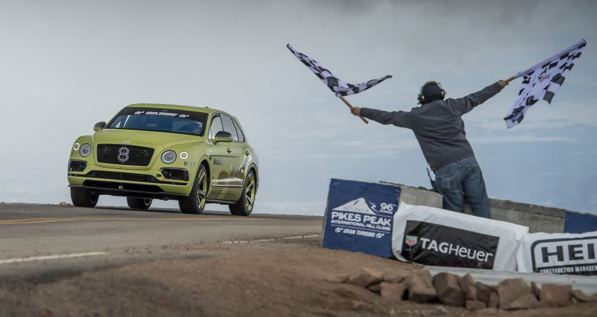 Bentley Bentayga sets new SUV record at Pikes Peak – celebratory limited edition revealed, only 10 units Image #832278