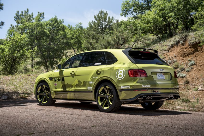 Bentley Bentayga sets new SUV record at Pikes Peak – celebratory limited edition revealed, only 10 units Image #832281
