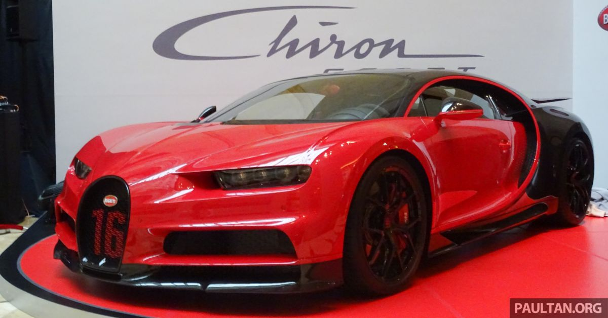 bugatti chiron sport makes an appearance at the first